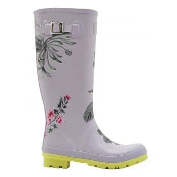 From nautical stripes and detailed florals to scenes that sing of our country heritage. Wherever you're tackling the great British weather Joules new printed wellies will make sure you stand out from the crowd. http://www.marshallshoes.co.uk/womens-c2/joules-womens-wellyprint-tall-printed-silver-birdberry-boot-p3966