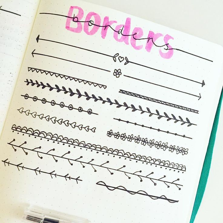 "BREEE en Instagram: ""Started drawing up some borders inspo for bullet journals """