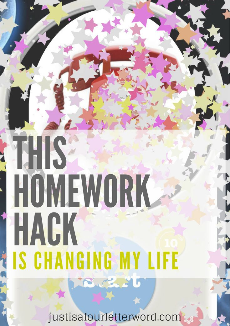 Homework Hack Game Changer for Helping kids learn time management and speed up homework time!