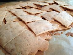 Grain-Free Almond Sunny Seed Crackers | Behold the nutty, crisp, and delicious crackers that satisfy a huge need while on the GAPS diet. B. says they're peanut-buttery and she is right. They're nutty, that's true, but not overly, so they go well with many foods - yogurt cheese or cheese, salmon salad, egg salad, almond butter, and more.  | TraditionalCookingSchool.com