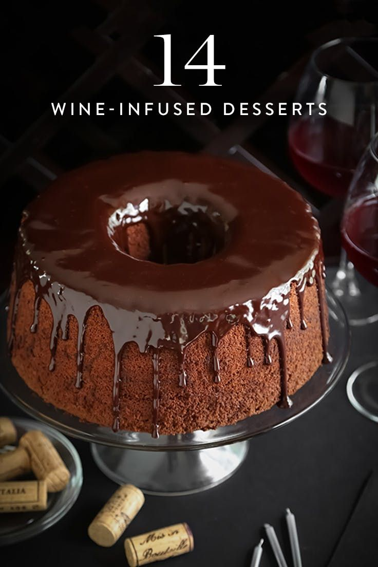 14 Wine-Infused Desserts You Need to Try #purewow #wine:varietal:cabernet sauvignon #wine:region:portugal #wine:varietal:champagne #food #wine:varietal:merlot #dessert #wine:varietal:muscat #wine:descriptor:red #wine #wine:recipes