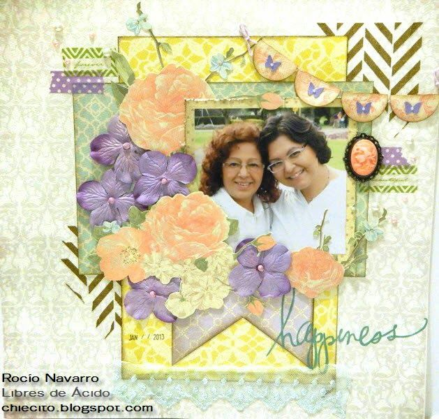 Scrapbook Layout con Texturarte : Mi Boda French Country