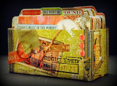 """You MUST see this... Seth Apter from The Altered Page has created the most amazing retro piece of artwork using Becky Fleck's new dies """"Address Book""""! Make your own!"""