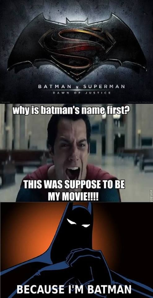 Batman Vs Superman Movie Batman, Funny, Movie, Superman