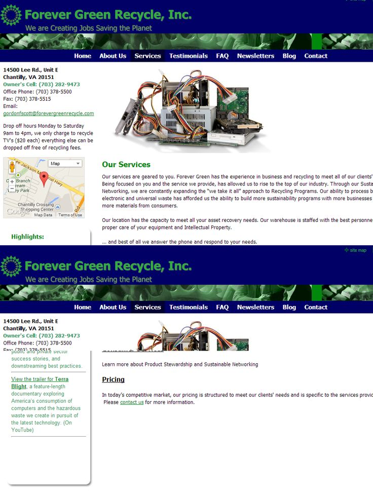 Business Electronics Recycling Services VA