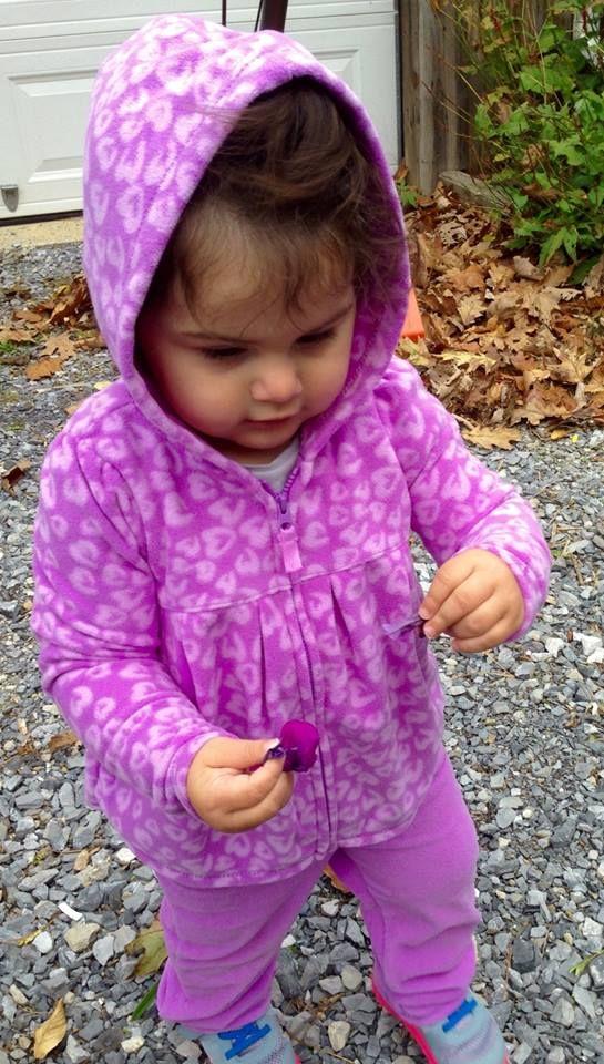 Nora picking Flowers