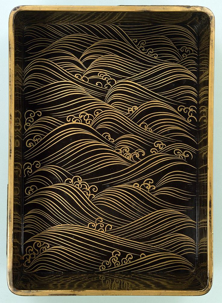 - Japanese Lacquer decorated with segaiha design. This design first showed during the Heian period. V.