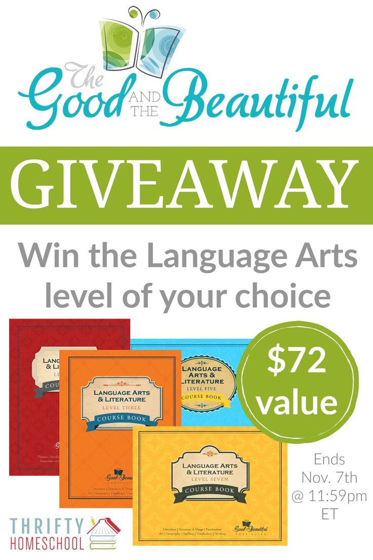 9 best exploring language arts images on pinterest english the good and the beautiful language arts giveaway fandeluxe Images