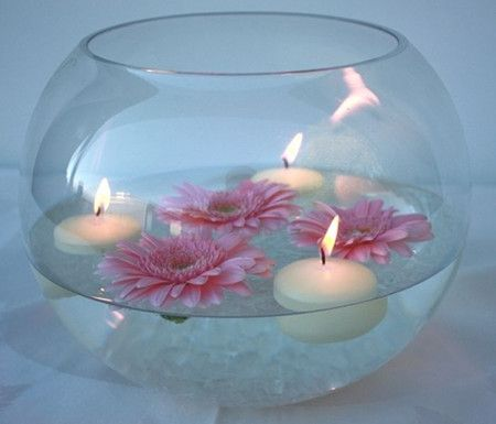 Fish bowl Wedding Centerpiece - Affordable and Adorable:17 Wedding Centerpieces Ideas - EverAfterGuide