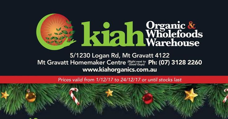 Happy Kiah Christmas Our Christmas catalogue is out now and full of tasty treats and quirky gift ideas! Check out our website or drop in store to get further savings off your next organic shop  http://ift.tt/2gAXfq6