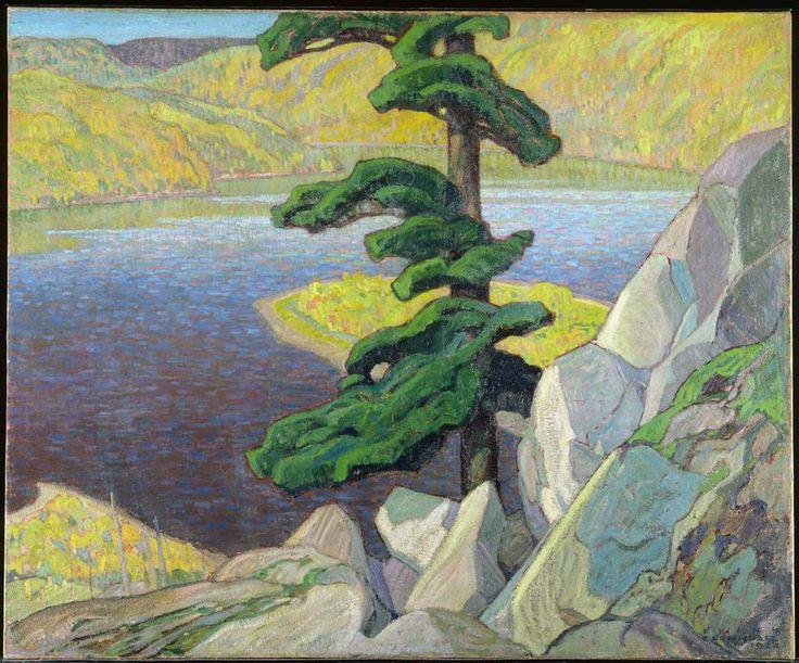 Frank-Carmichael-The-Upper-Ottawa,-near-Mattawa-1924-painting-artwork-print