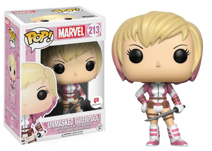 """Wobblers: Marvel Avengers Steve Rogers and Tony Stark are coming as Wobblers! Iron Man and Captain America stand 6"""" tall and combine the style ofPop! with the classic wobble of bobble-heads! Coming in January!  Pop! Marvel: GwenPool Gwen Poole, aka GwenP"""