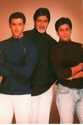 Shah Rukh Khan,Amitabh Bachchan & Hrithik Roshan - Kabhi Khushi Kabhie Gham