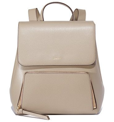 Bryant park backpack by DKNY. Rich leather composes this polished DKNY backpack. Zip front pocket and slim back pocket. Magnetic top flap and lined...