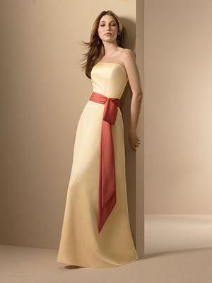 Secondary Sponsor Dress Cut Idea Taffeta Natural Waist