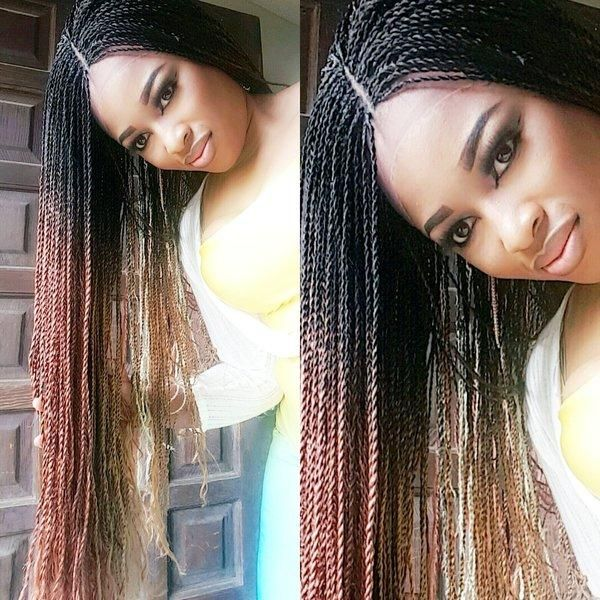 Ombre Million Braids Lace Front Wig Hair Styles Lace Front Wigs Black Natural Hairstyles