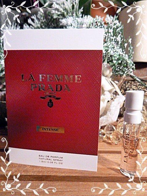 Prada La Femme Prada Intense Eau de Parfum 1.5mL sample for Women Tuberose #PRADA