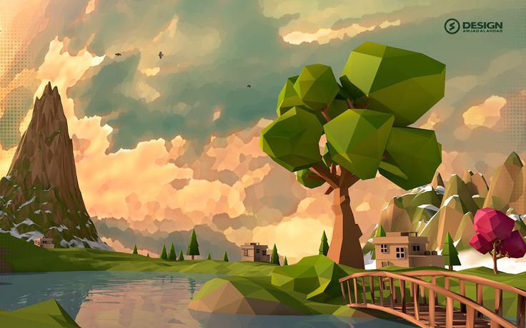 Low Poly-Orange Tree on Behance