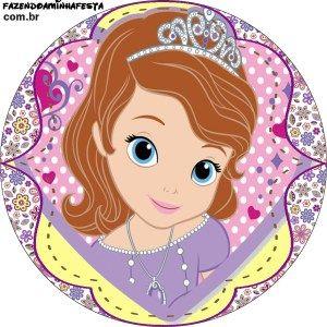 topper e latinha Princesinha Sofia da Disney