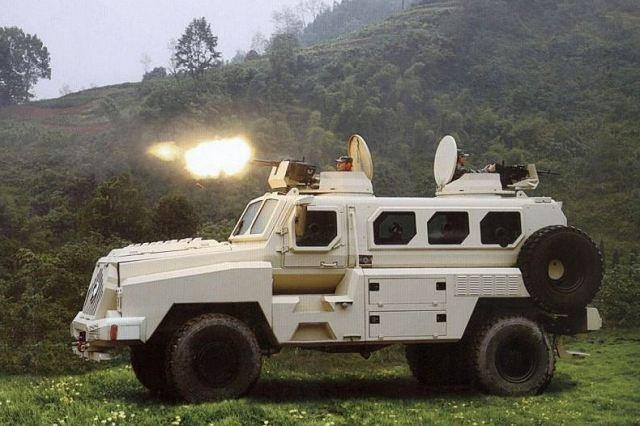 The CS/VP3 is an APC armoured personnel carrier in the category of MRAP (Mine-Resistant Ambush Protected Vehicle) vehicle designed and manufactured by the Chinese Company Poly Technologies. The vehicle was unveiled at the DSA 2012, defence exhibition in Malaysia. Read more CS/VP3 technical data sheet, specifications, description and pictures http://www.armyrecognition.com/index.php?option=com_content=view=6083 — con CS/VP3 Poly Technologies MRAP Mine Protected Armoured Vehicle China: Data Sheet