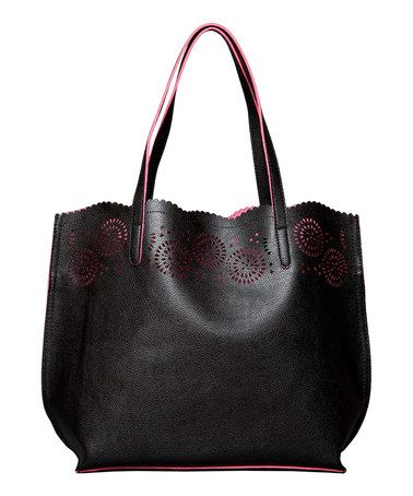 Love this Black Lily Cutout Tote \u0026 Cosmetic Bag by Elise Hope on #zulily!