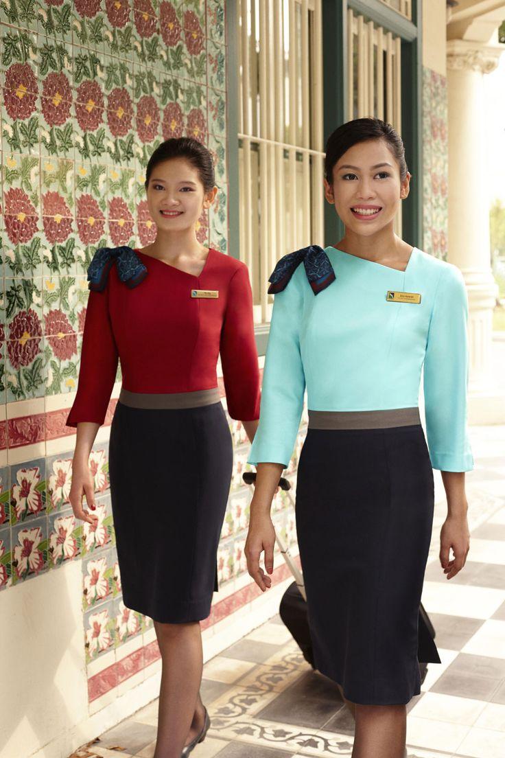 Silk air cabin crew glamorous cabin crew pinterest for Spa uniform singapore