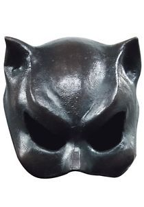 half mask cat girl deluxe halloween mask