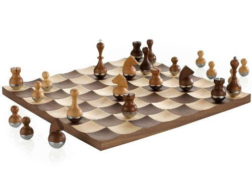 17 best teak chess set with an 8 king images on pinterest chess sets teak and clams - Wobble chess set by umbra ...