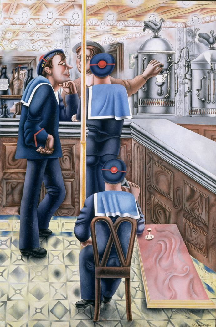 Edward Burra Three Sailors at the Bar (1930)