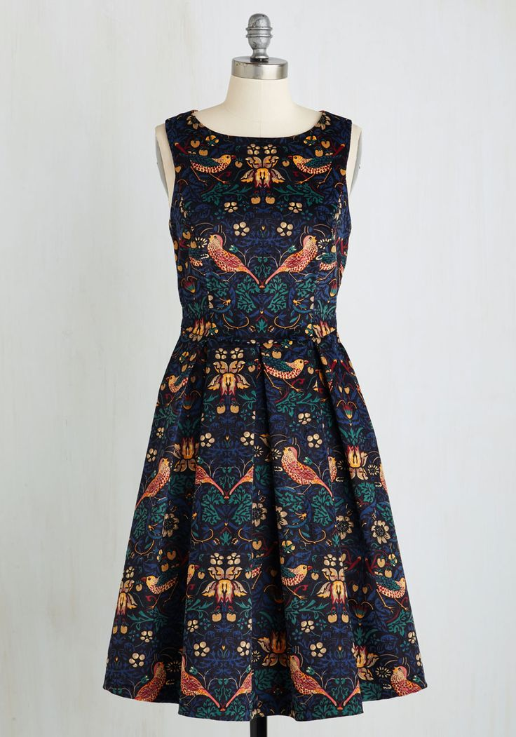 Eva Franco Partridge in a Flair Tree Dress | Mod Retro Vintage Dresses | ModCloth.com