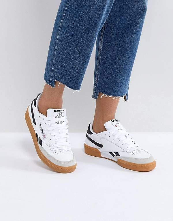 Reebok Classic Revenge Plus Trainers In White And Navy (With