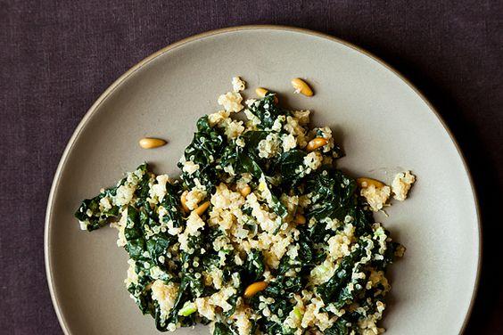 One Pot Kale and Quinoa Pilaf
