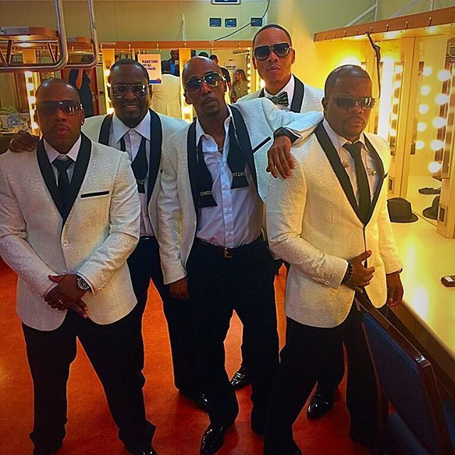 New Edition about to hit the stage for the second night on the Tom Joyner cruise.
