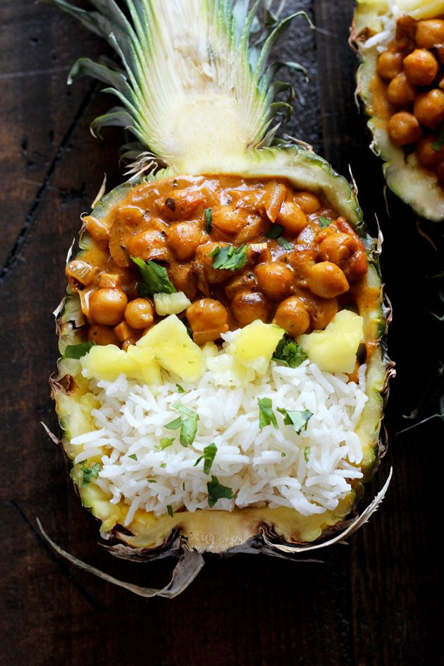 Vegan Chickpea Tikka Masala with Pineapple - Rich, healthy, flavorful, and nutritionally packed meal with a fruity, pineapple twist.