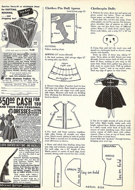clothespin doll patterns | clothespin doll apron 2 | Flickr - Photo Sharing!