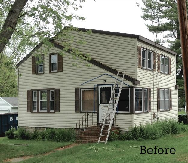 Before and after shots......house exterior before reno-Laurel's SoPo Cottage