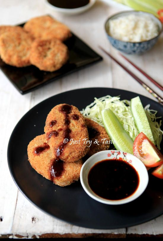 Korokke Daging Sapi Dengan Saus Tonkatsu - Japanese Potato Croquettes