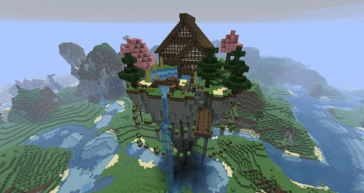 awesome minecraft houses | Mystical Zen House (Floating) Minecraft Project