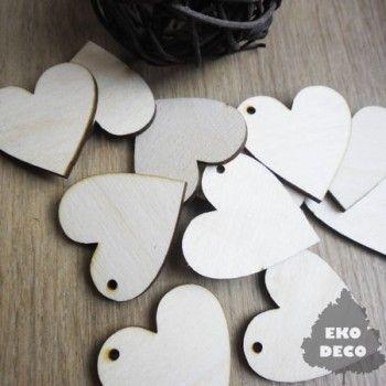 Duże serca, kolczyki do decoupage K05