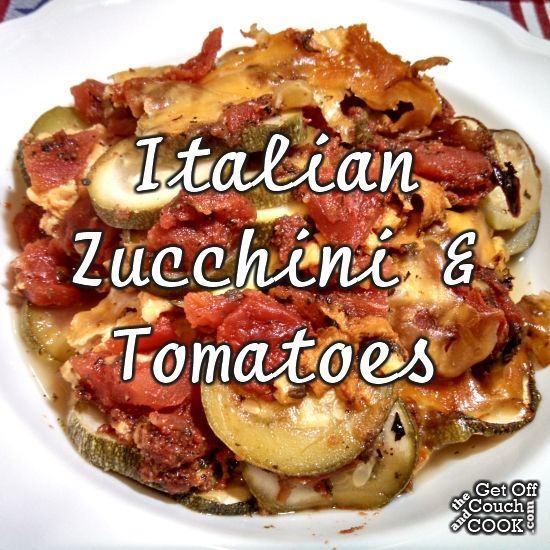 Italian Zucchini & Tomatoes - My favorite summer vegetables come together again in the slow cooker, this time with an Italian flair and lots of cheese!