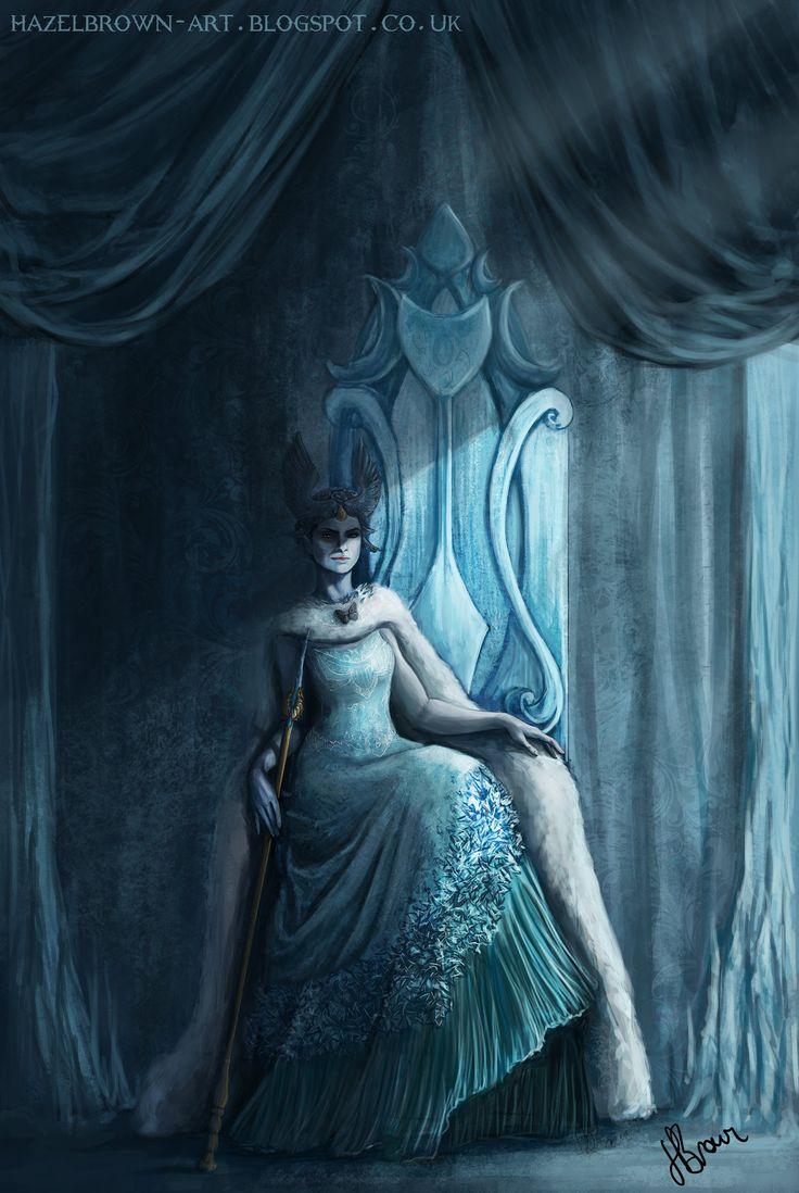 Queen Jadis- The White Witch/Queen Narnia re-design, Hazel Brown on ArtStation at https://www.artstation.com/artwork/queen-jadis-the-white-witch-queen-narnia-re-design