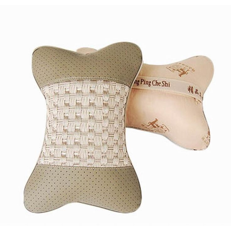 Auto Supplies A Pair of Seat Headrest Comfortable Neck/Head Pillow, Light Gray