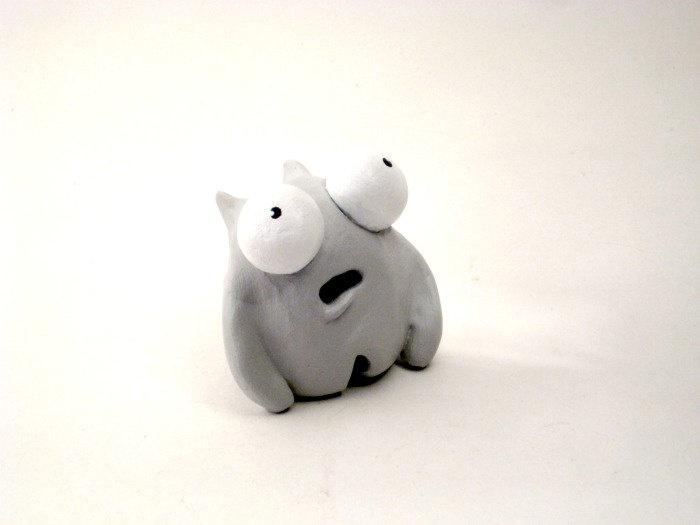 Cute Monster Sculpture - Emoti-Monster Series - Shock ...