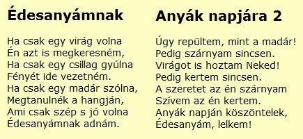Anyák napi versek http://www.tyukanyo.hu/anyaknapja-gyerek-versek/#idx31