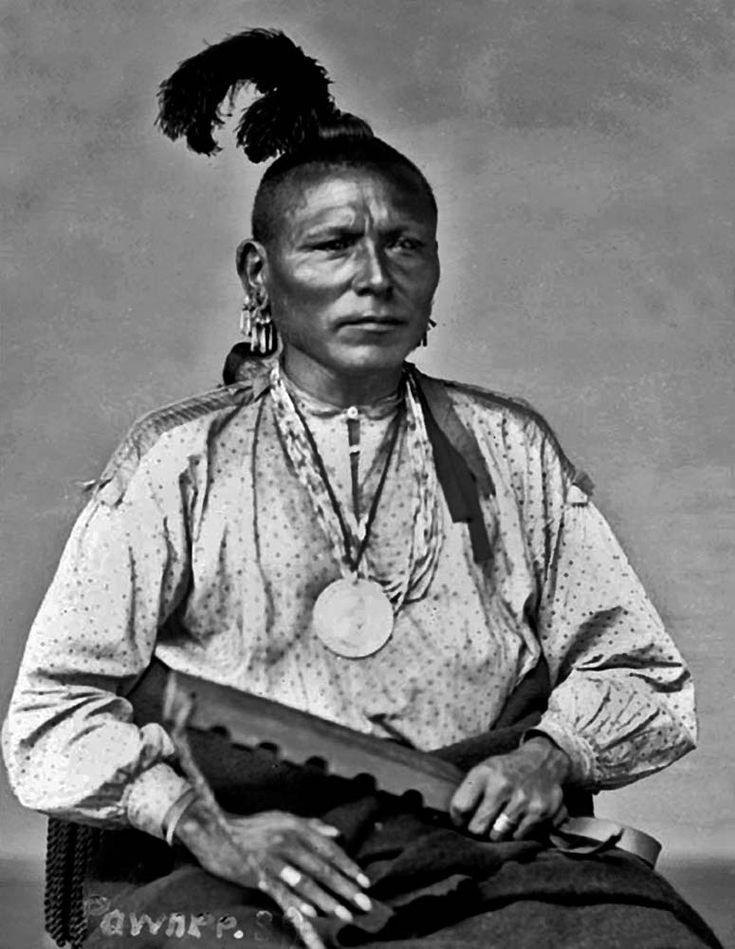 Pawnee man One Who Strikes The Chiefs First - Tec-ta-sha-cod-dic 1868