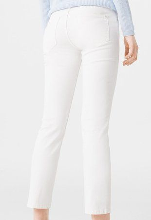 Jeansi drepti albi Alice ieftini dama #pantaloni #jeansi #BlugiDama