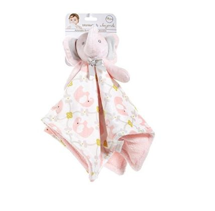 Elephant Plush Blanket With Pacify Clip by Blankets And Beyond