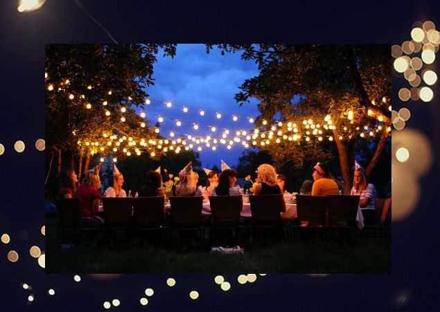 10 best summer garden party images on pinterest weddings bistro lights work great too workwithnaturefo