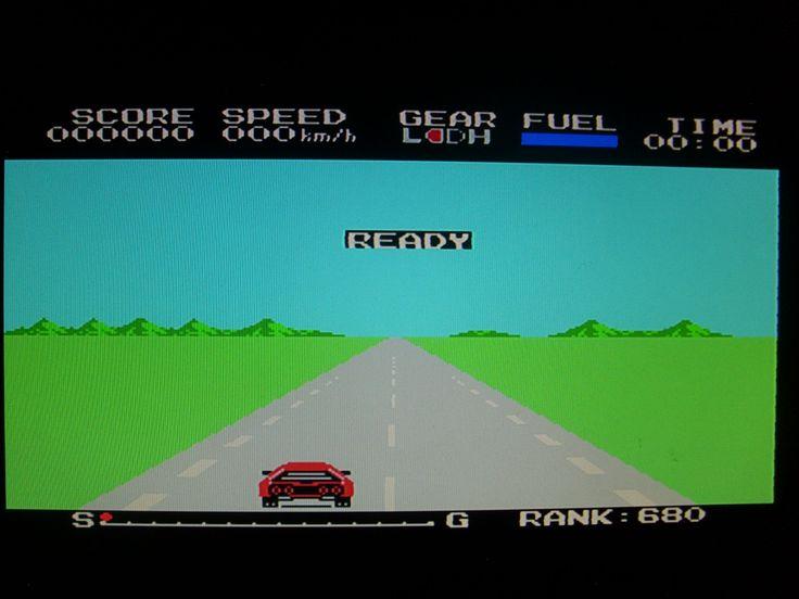 Konami Hyper Rally 8bit MSX game
