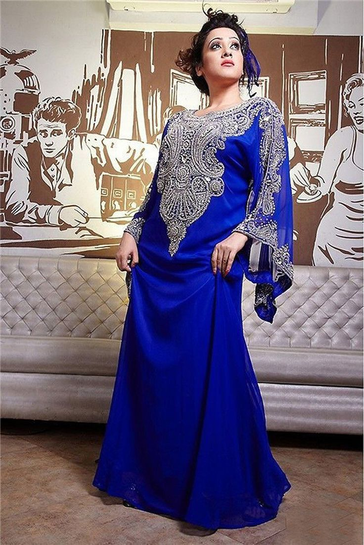 Find More Evening Dresses Information about Moroccan Kaftan Dresses Evening 2016 Free Shipping Rhinestones Royal Blue Evening Dress Long Sleeves,High Quality dresses maternity,China dress up school uniforms Suppliers, Cheap dress kaftan from jmrdress7 on Aliexpress.com